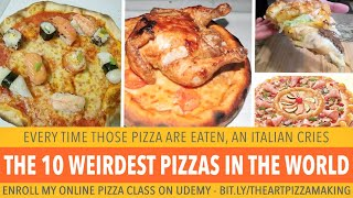 10 Weird Pizza Toppings People Eat Around The World - chicken sushi kebab pepperoni pizza