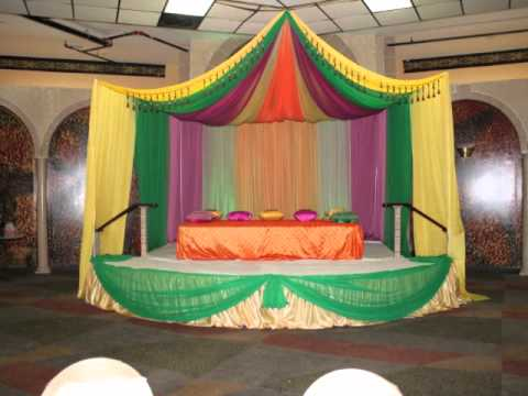 Mehndi stage decor youtube - Decoration mural design ...