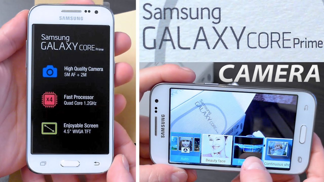 Samsung Galaxy Core Prime Unboxing Camera Test Youtube