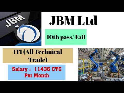 10th Pass / Fail ITI (All Technical Trade) Job 2020 in JBM Ltd, Sanand (Gujarat) Direct Joining