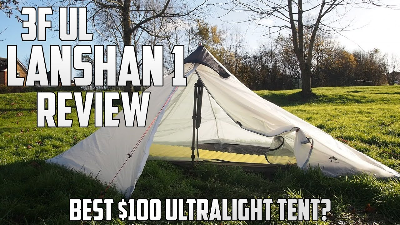 3F UL Lanshan 1 Tent Review - Best Budget Ultralight Tent? & 3F UL Lanshan 1 Tent Review - Best Budget Ultralight Tent? - YouTube