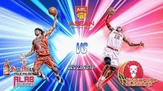 San Miguel Alab Pilipinas VS Singapore Slingers| Dec 23 2018| ASEAN Basketball League| 1ST QUARTER