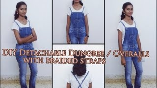 DIY Detachable Dungree/Overalls with Braided Straps
