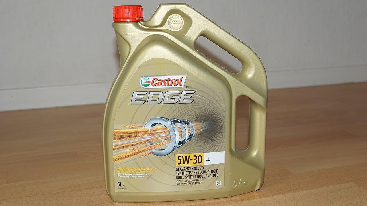 unboxing huile moteur castrol edge 5w 30 ll long life 5l test