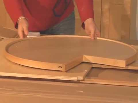 Standard Lazy Susan Cabinet Installation Instruction - YouTube