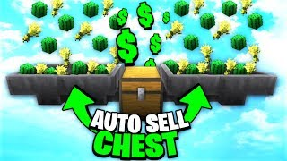 Overpowed AUTO SELL CHEST!   Minecraft Skyblock