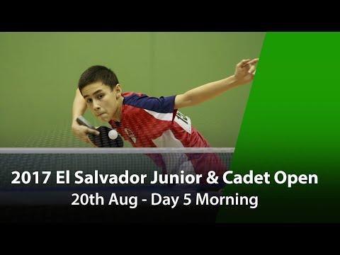 2017 ITTF El Salvador Junior & Cadet Open - Day 5 Morning