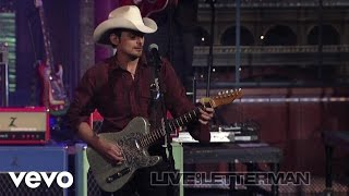 brad paisley then live on letterman