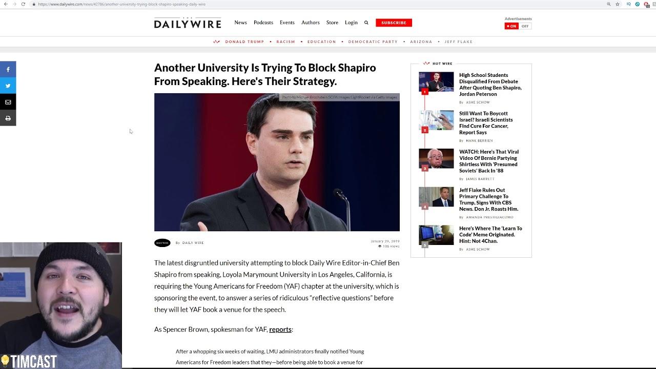 Activists Place Posters Threatening Ben Shapiro Around University