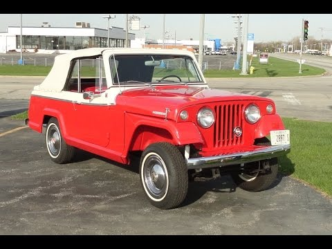1968 kaiser jeep jeepster sport convertible in president red paint1968 kaiser jeep jeepster sport convertible in president red paint my car story with lou costabile