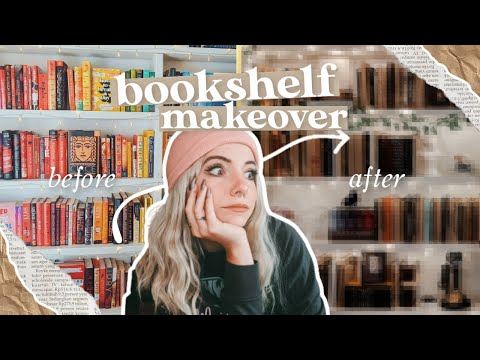 so I did this to my books... ✨ aesthetic bookshelf makeover