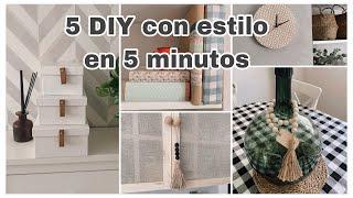 DIY 5 ideas deco low cost en 5 minutos que darán estilo a tu casa (reciclando)