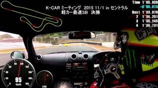 k car meeting 2015 11 1 in セントラル 軽カー最速sb決勝