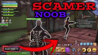 Scames at the craziest scamer of fortnite 🤪 fortnite save the world scameing scamers