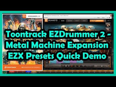 Toontrack EZDrummer 2 - Metal Machine Expansion EZX Presets Quick Demo