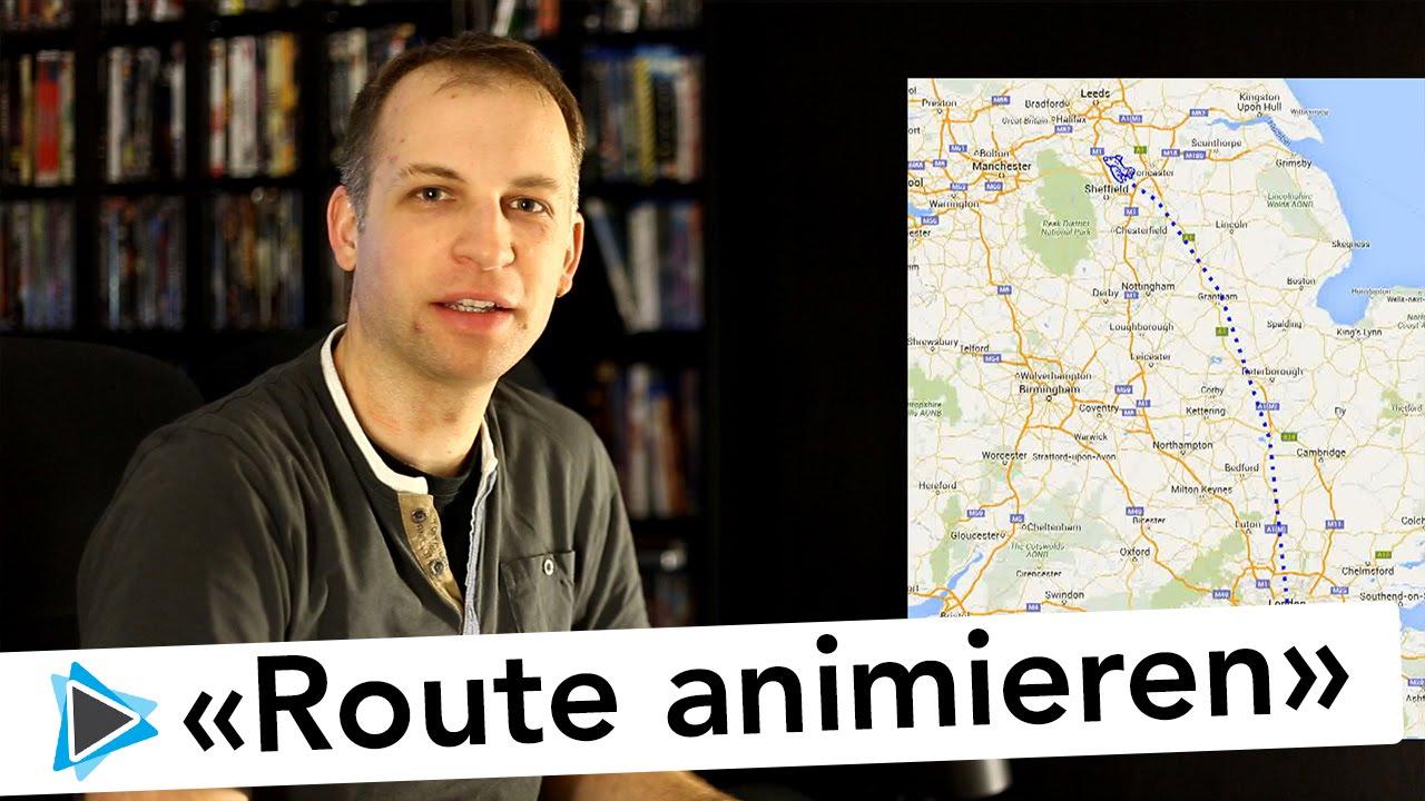 reise routen animation mit route generator für pinnacle studio