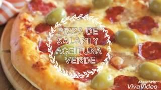 PREPARA PIZZA DE SALAMI EN CINCO MINUTOS!!!