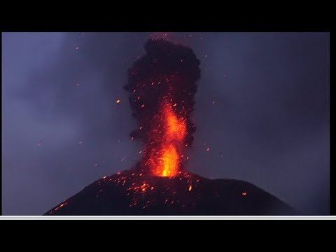 Krakatau Volcano Eruption at July 03,2018