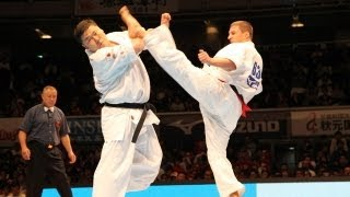 THE 10th WORLD KARATE CHAMPIONSHIP Men 3rd round Orest Proc vs Taka...