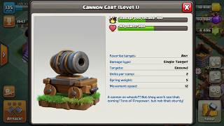 Clash Of Clans / What Is CANNON CART ?! / Working Of CANNON CART🔥 / NEW TROOPS IN BUILDER BASE