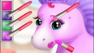 Fun Baby Pony Care Kids Game - Pony Sisters Hair Salon 2 - Play Pet Horse Makeover Games For Girls