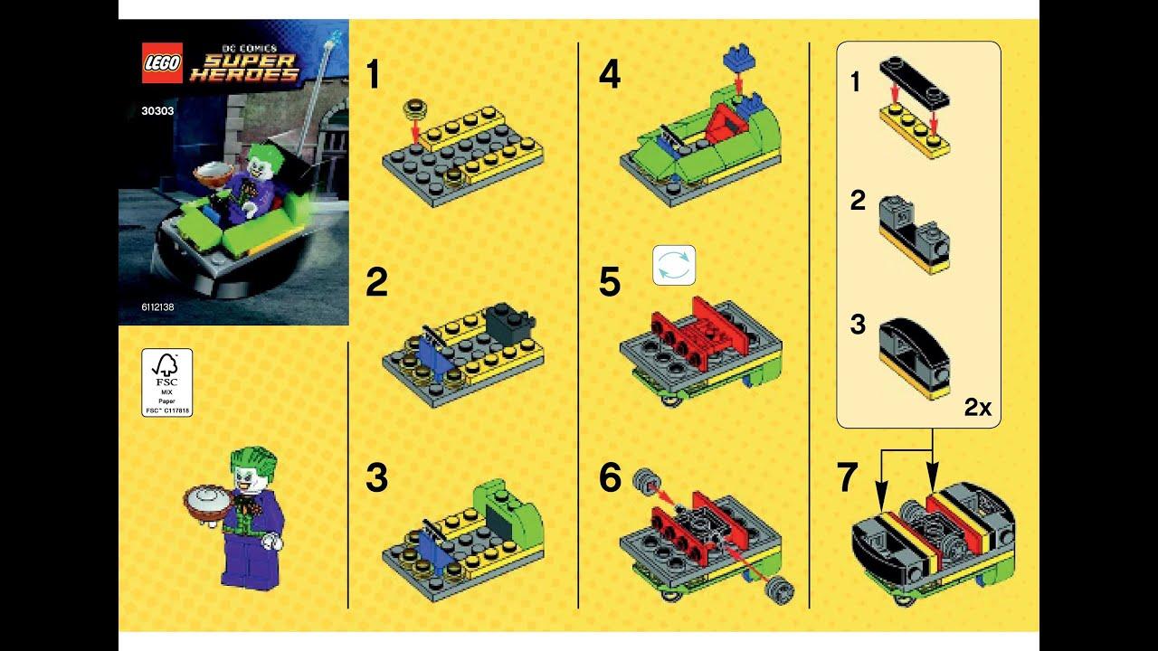 LEGO SET 30303 POLYBAG DC SUPER HEROES THE JOKER BUMPER CAR