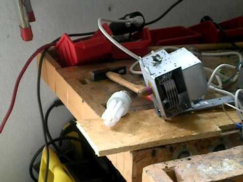 HERF GUN - Test 1 CFL