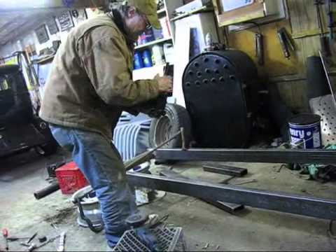 Mike's Rat Rod 41 Chevy truck, frame setup - YouTube