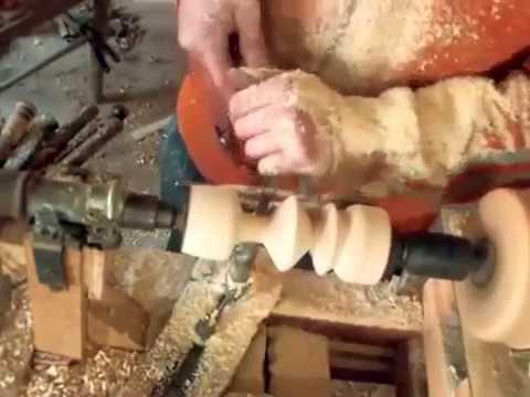 Trottola in legno di ulivo fai da te tornio for Youtube fai da te legno