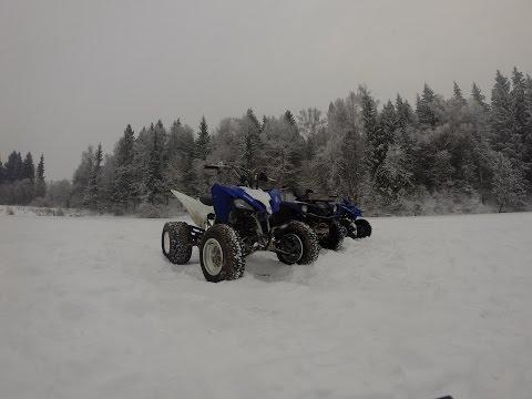 GoPro:Покатушки на квадроциклах! 31.12.2014 - 2.1.2015. Quad snow ride!ATV.