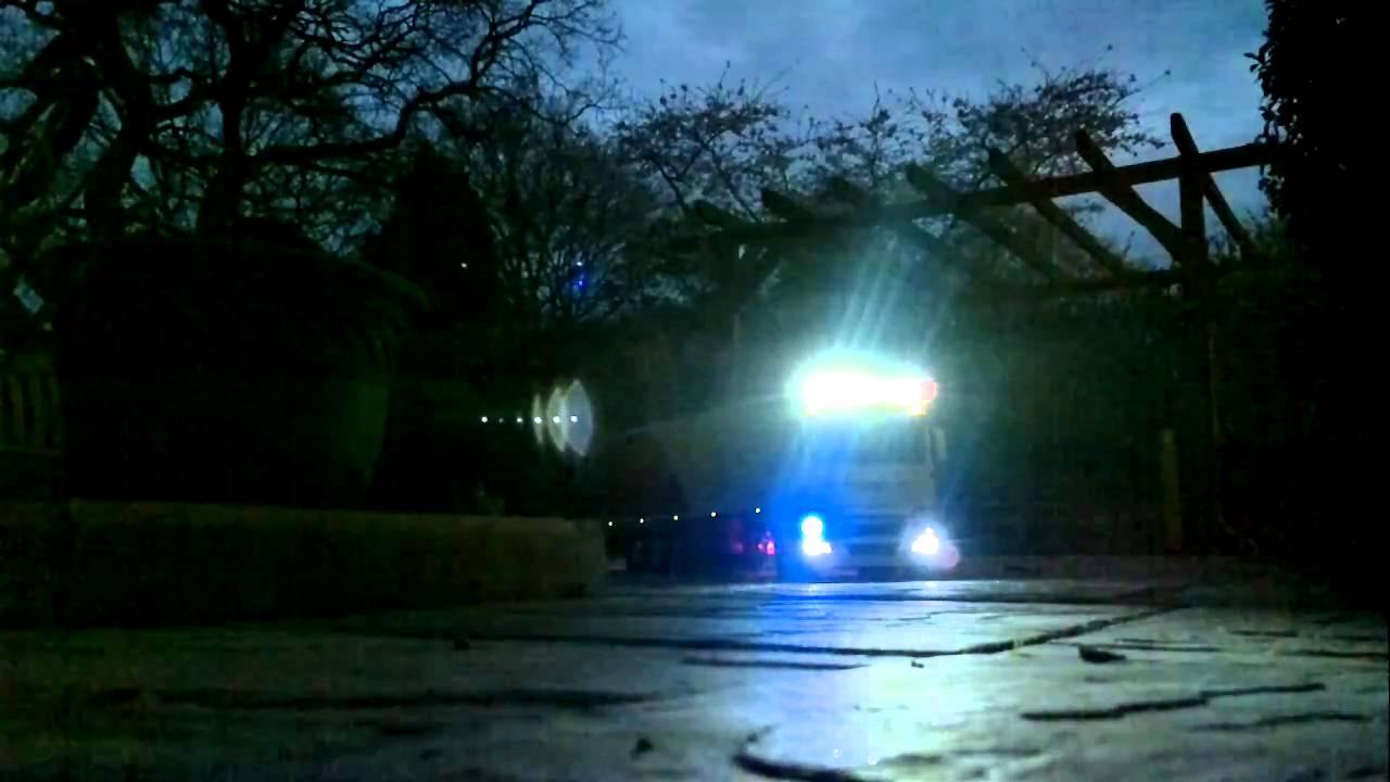 c774f558cf tamiya man truck reefer trailer lights night - YouTube