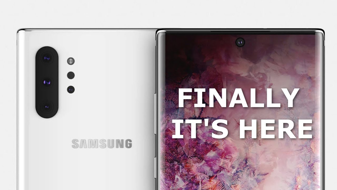 Galaxy Note 10 PRO is SENSATIONAL 🔥 - Official Design Leaked! + Release  Date