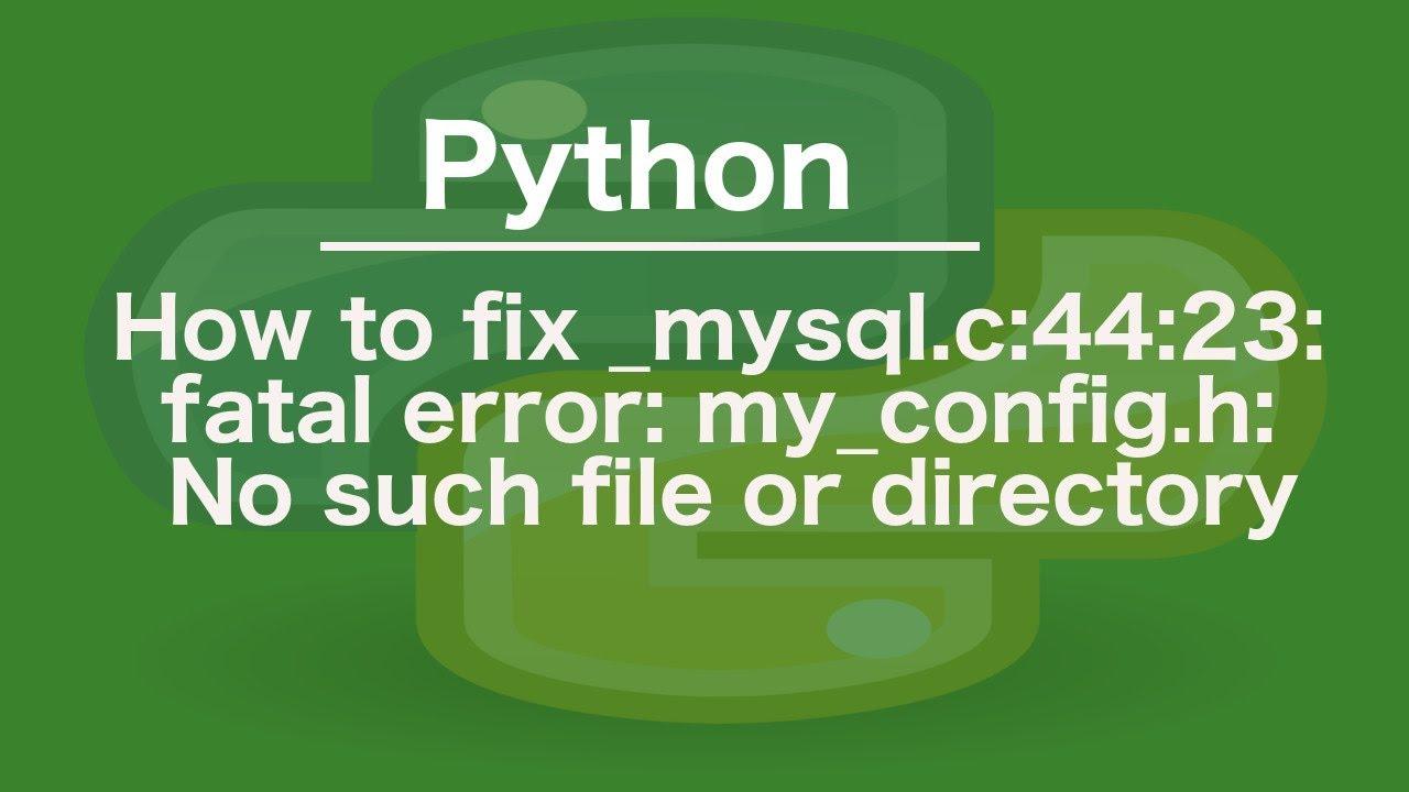 Error MySQL Fatal