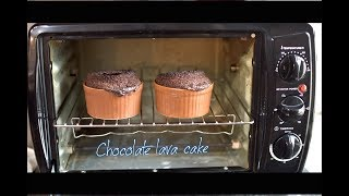 Homemade Chocolate lava cake ( eggless ) using Prestige POTG 19 PCR OTG