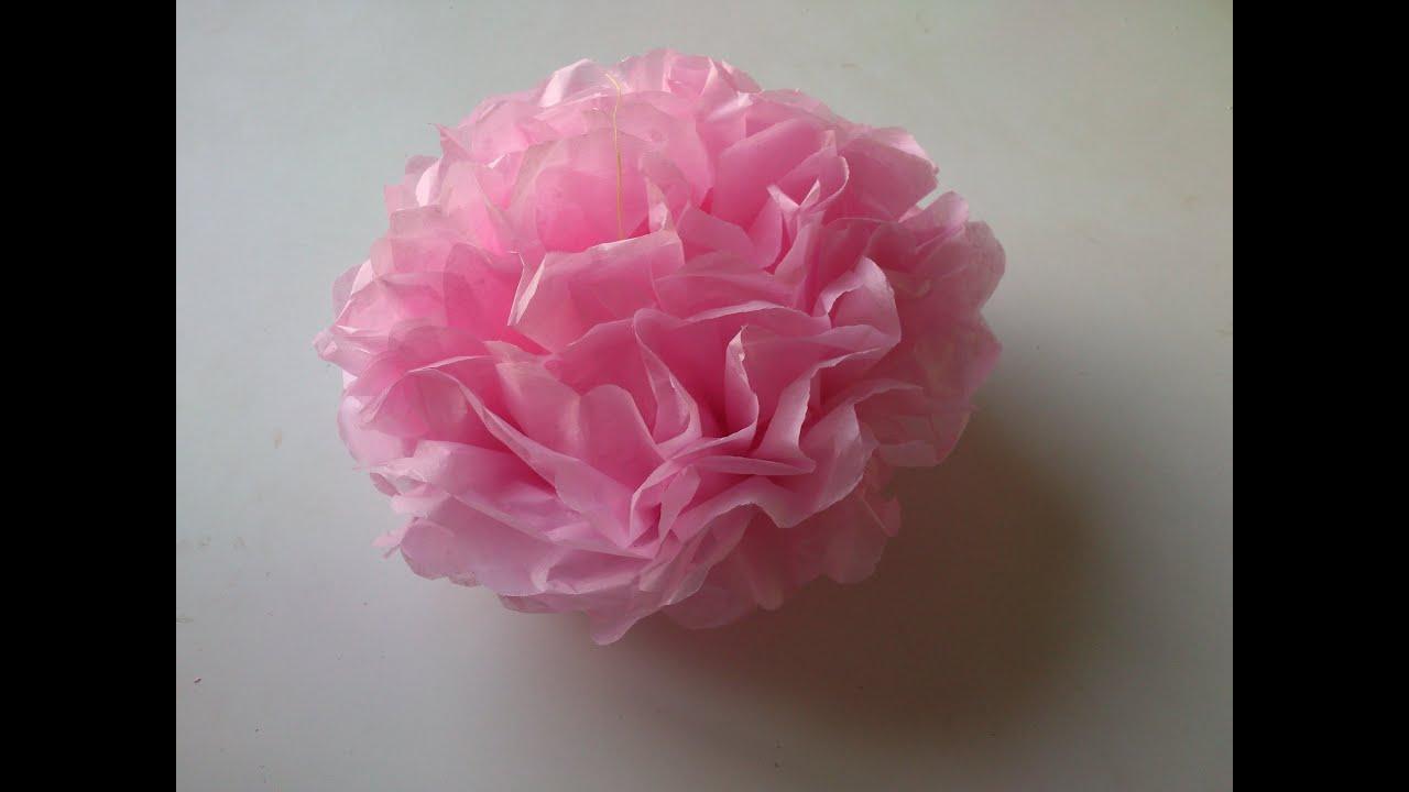 C mo hacer un pomp n de papel youtube - Como se hacen flores de papel ...