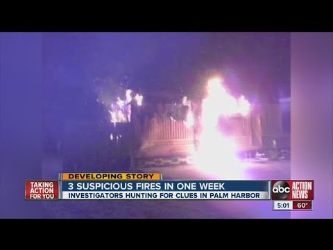 Palm Harbor has three mobile home fires in one week