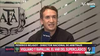 Federico Beligoy, y los árbitros del Boca - River: