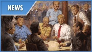 Trump has 'fantasy' painting of himself surrounded by past presidents