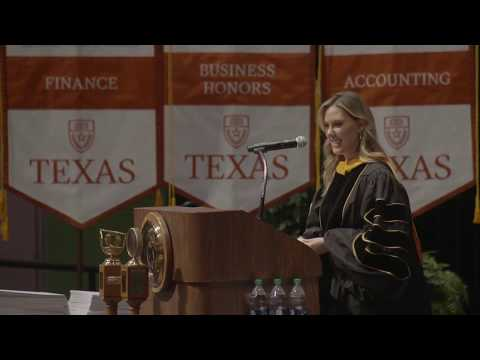 RAW: Kendra Scott gives commencement speech to UT business students