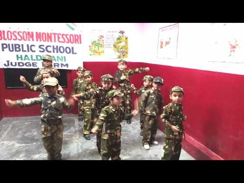 Independence Day celebration in Blossom Montessori Public School