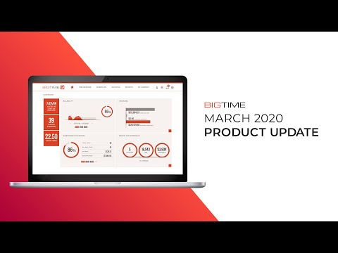 BigTime March 2020 Product Update