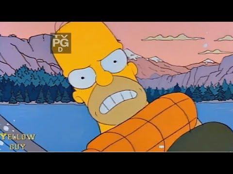 The Simpsons - Homer Fishing Or Homer Fishing?