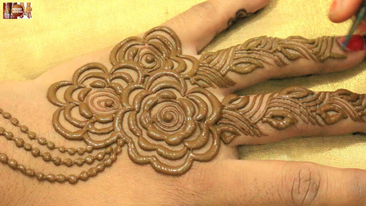 Mehndi Designs For Upper Hands : Stylist mehndi hinna designs for upper hands beautiful