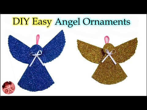 DIY Christmas Ornaments | Christmas Angel Ornaments for Christmas Tree Decorations