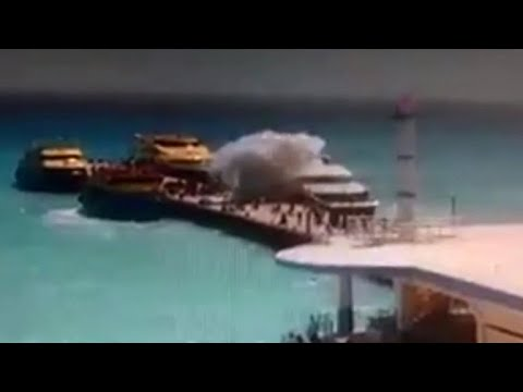 Security video shows Playa del Carmen ferry explosion