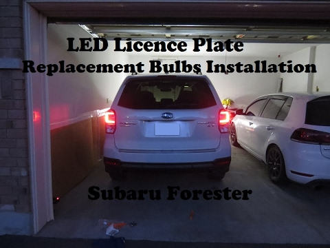 Led License Plate Bulbs Installation For Subaru Forester