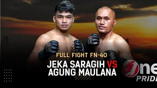 Cepat Banget! Jeka Saragih VS Agung Maulana || Full Fight One Pride MMA FN-40