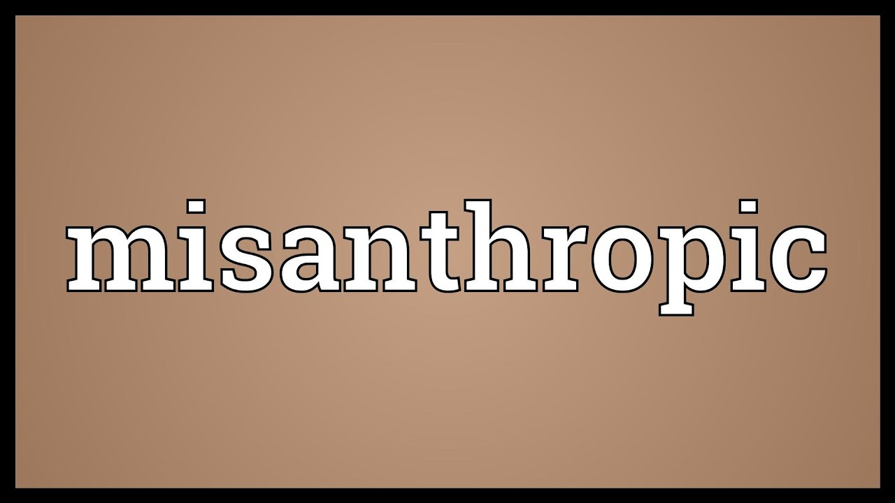What does misanthropy mean