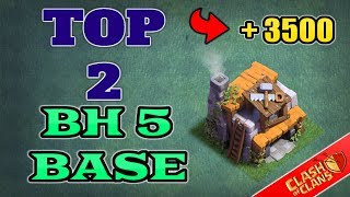 TOP 2 BEST Builder Hall 5 Base w/ PROOF! +3500 CUPS! | CoC BH5 Builder Base Designs | Clash of Clans