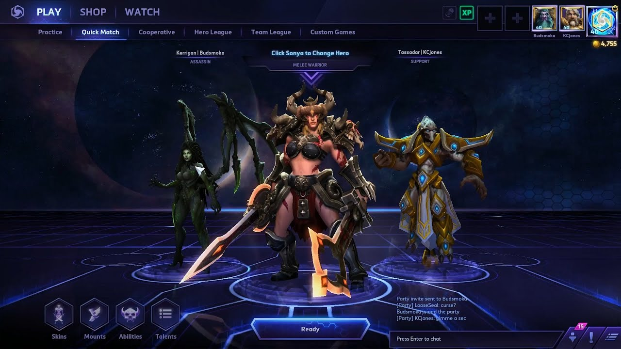 Build Sonya Heroes Of The Storm